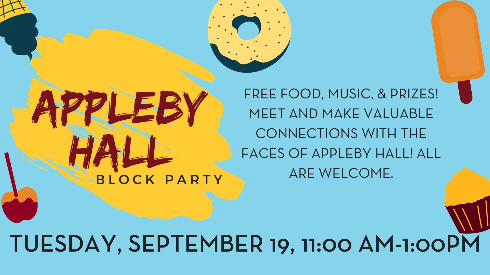 Appleby Hall Block Party Poster