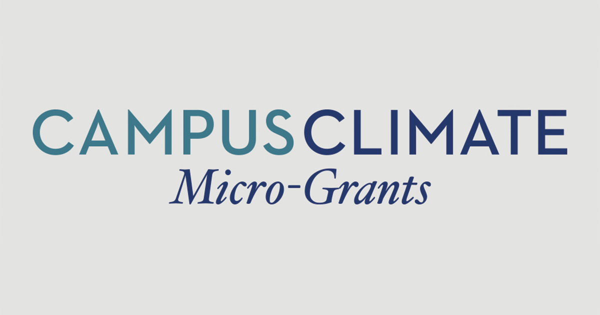 Campus Climate Micro-Grants text on a gray background