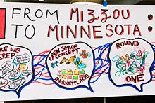 A poster that says From Mizzou to Minnesota